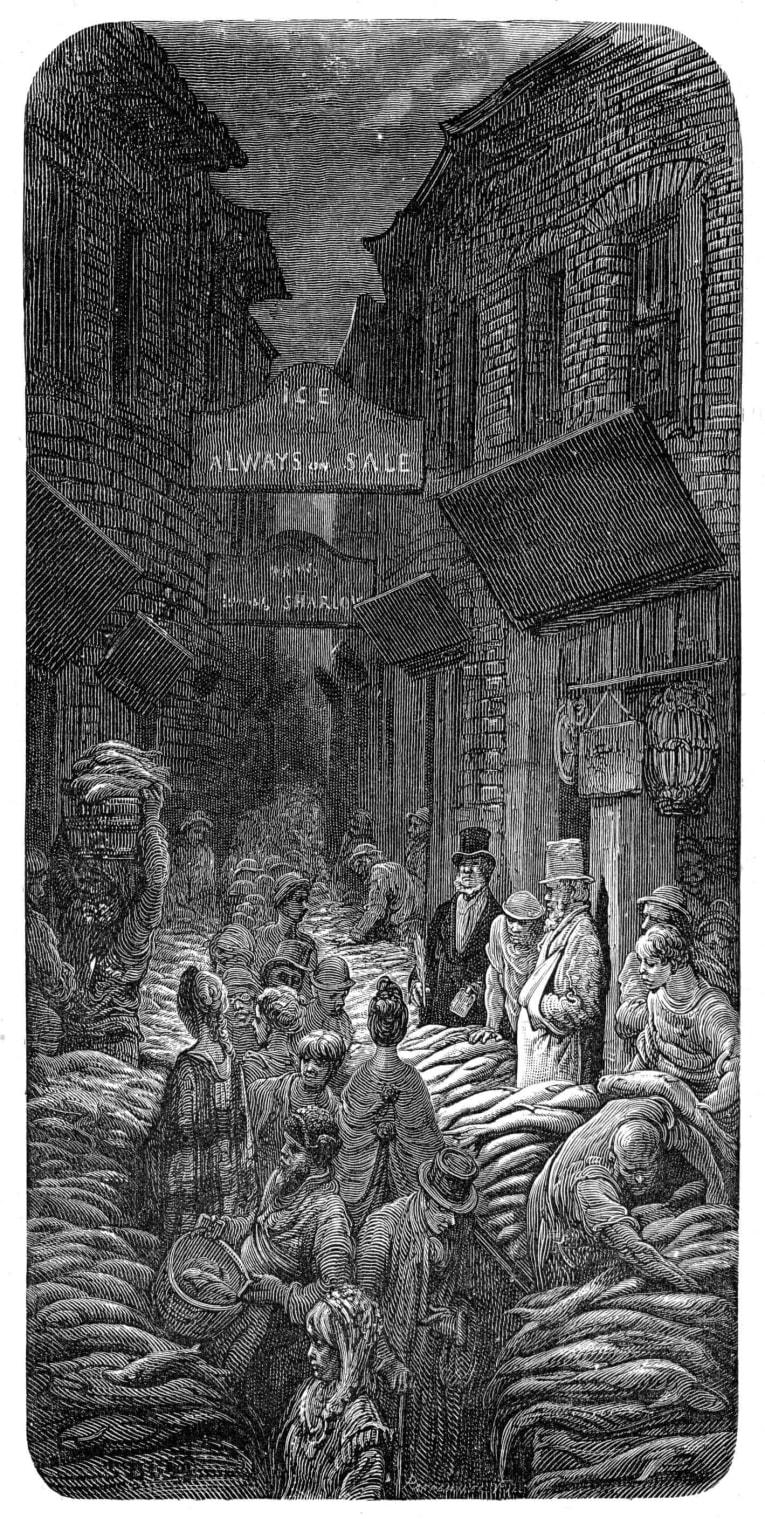 Billingsgate Market Victorian Era.