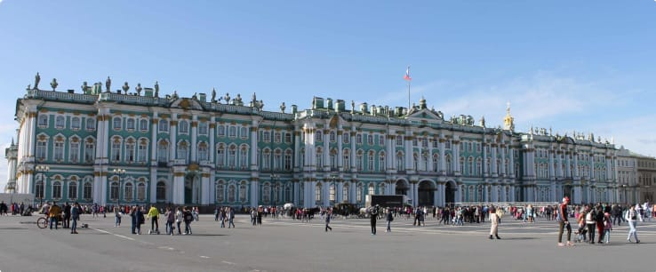 View of the Winter Palace St Petersburg Russia