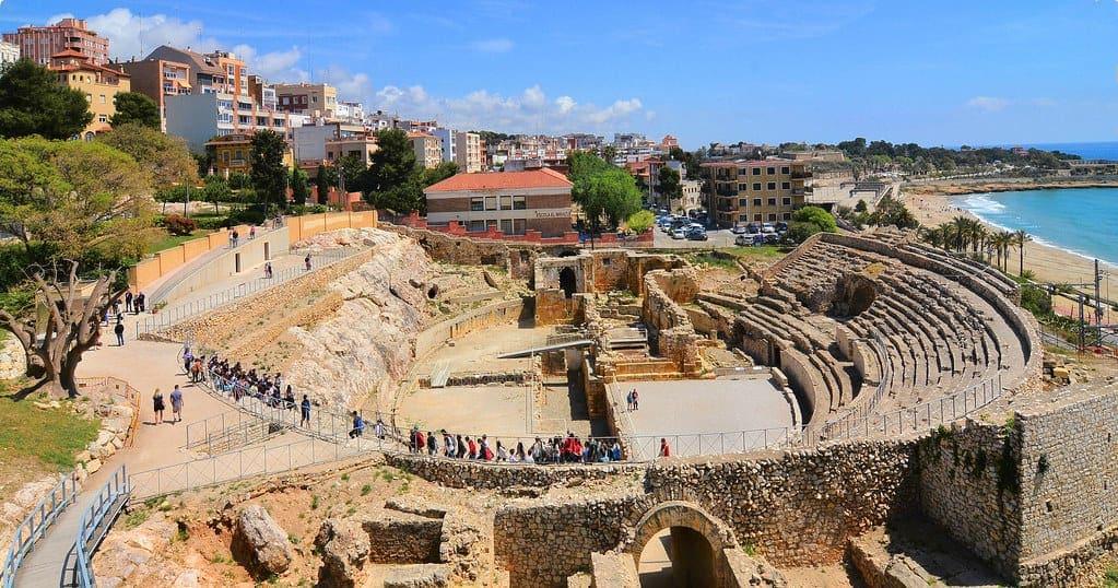 Tarragona Ampitheatre, a Roman ruin in the town
