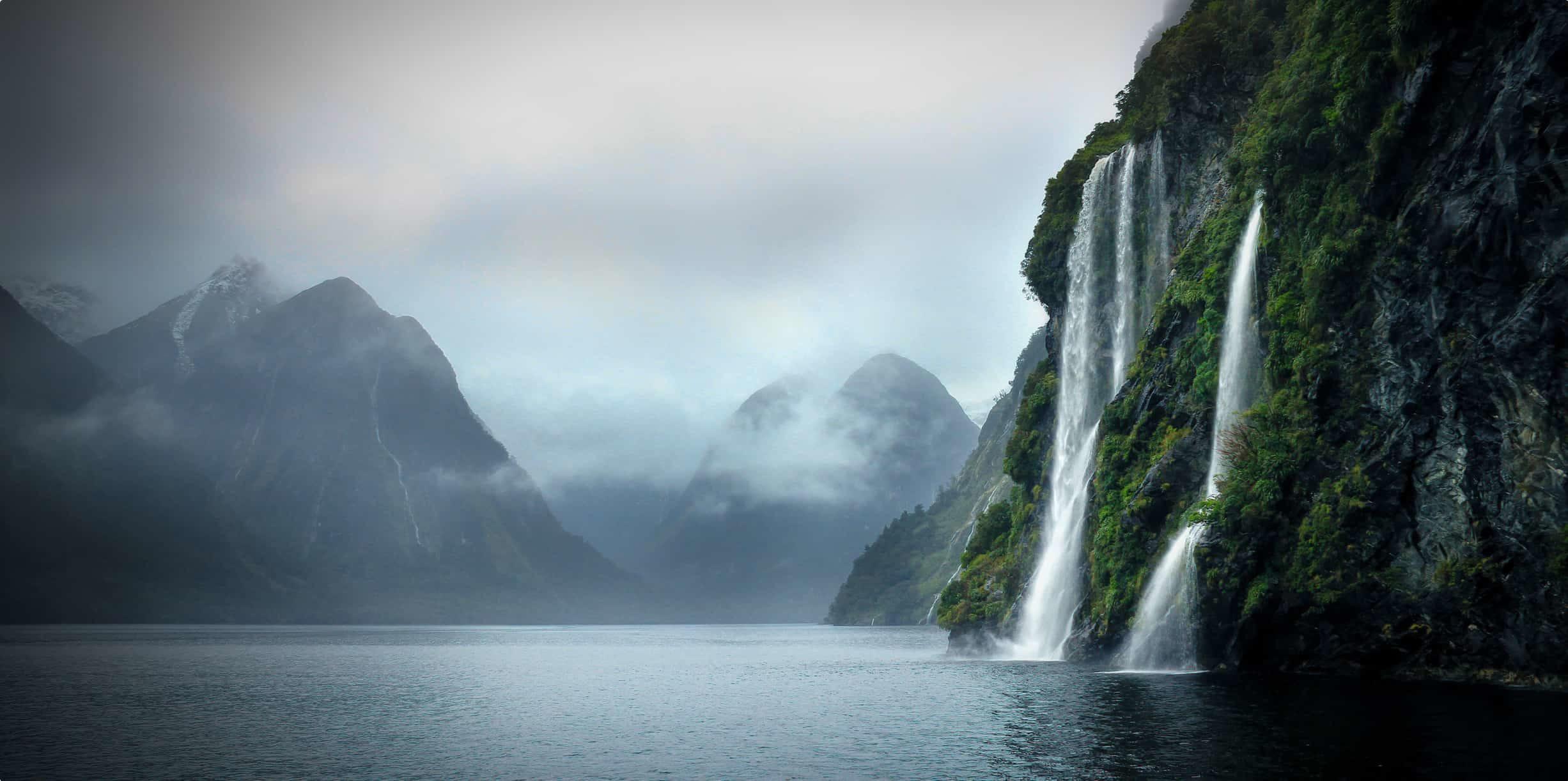 Doubtful Sound, Fjordland in New Zealand