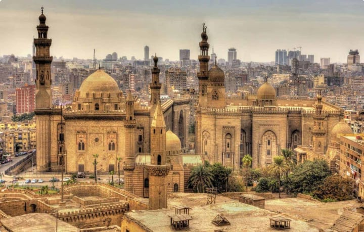 Mosques of Sultan Hassan and Al-Rifai in Cairo - Egypt