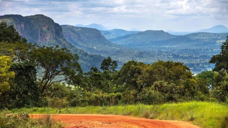 Amazing landscapes in West Africa