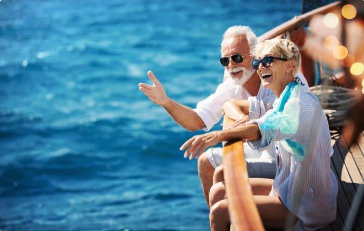 seniors on boat