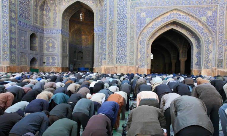 Friday prayer service in Iran