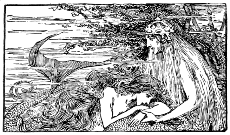 An illustration from a book of Hans Christian Anderson's fairy tales published in 1899
