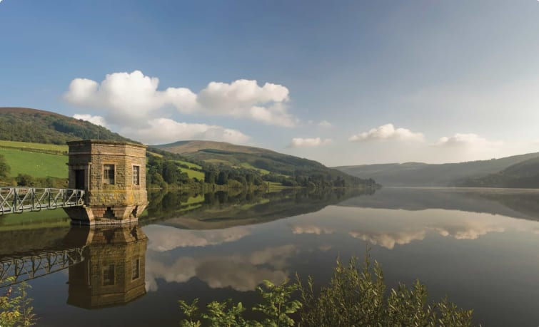 reservoir in the brecon beacons wales