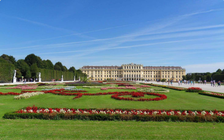 Schonbrunn Palace and the Crown Prince Gardens