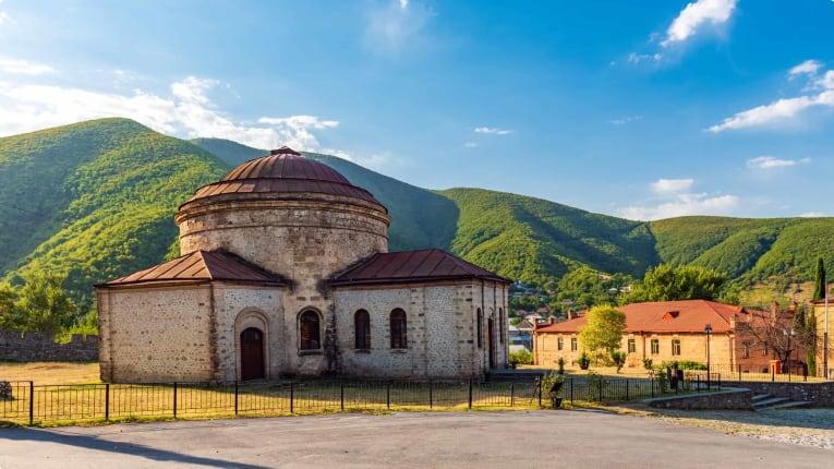 Ancient Caucasian Albanian Church in Sheki, Azerbaijan