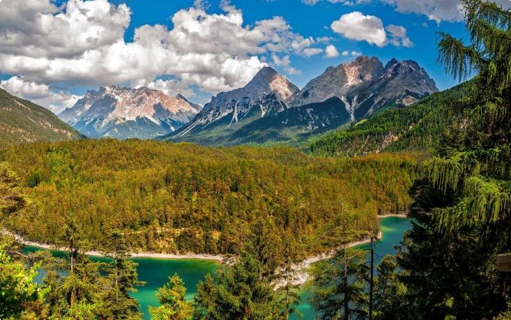 The alpine landscape in Austria