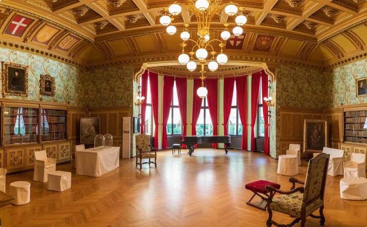 Inside Wagner's Villa, Bayreuth, Germany