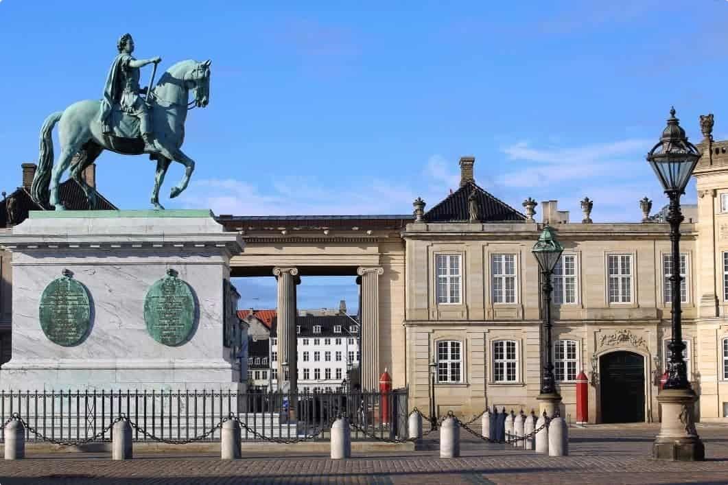 Amalienborg Square in Copenhagen
