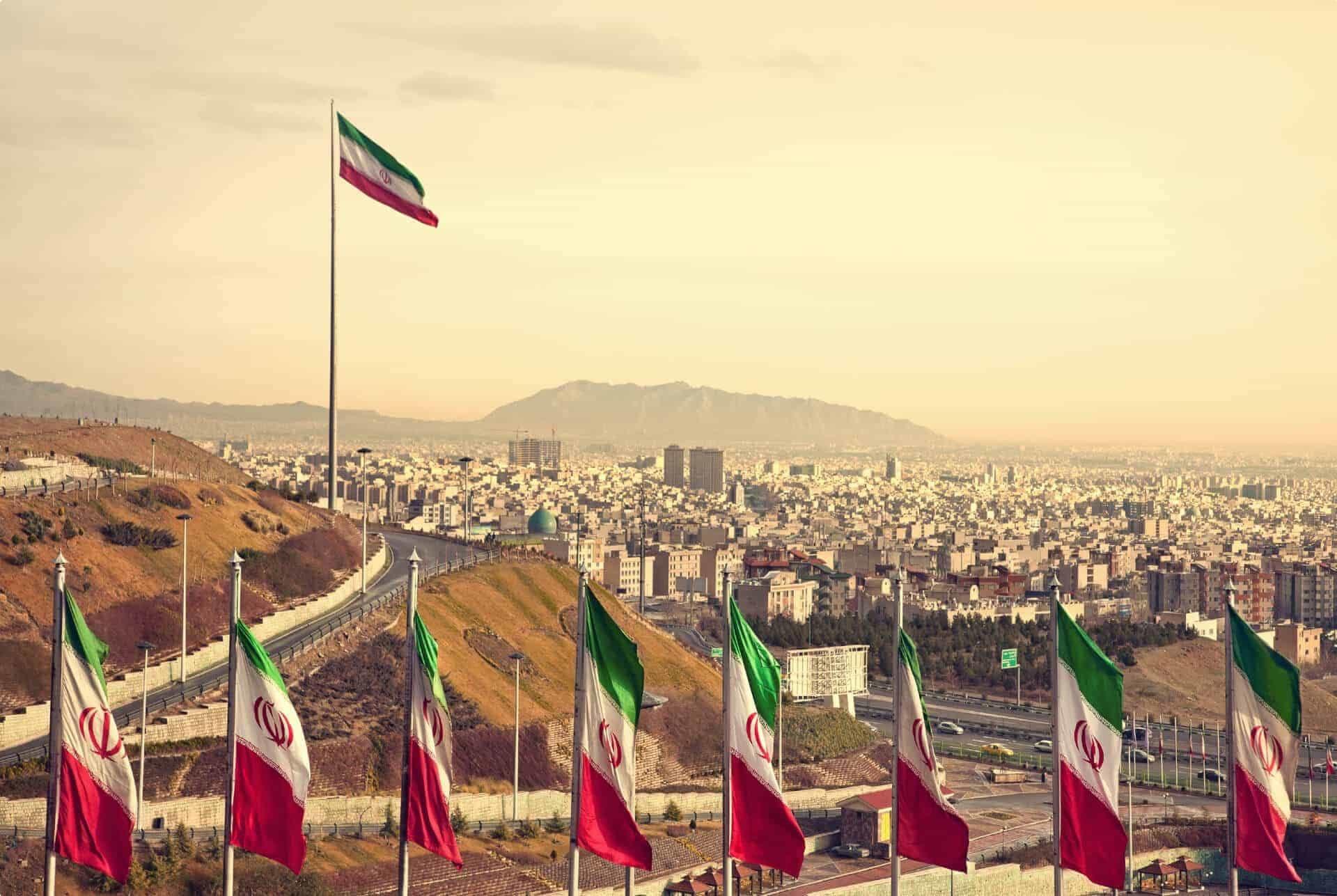 Persia Iran Tehran panorama