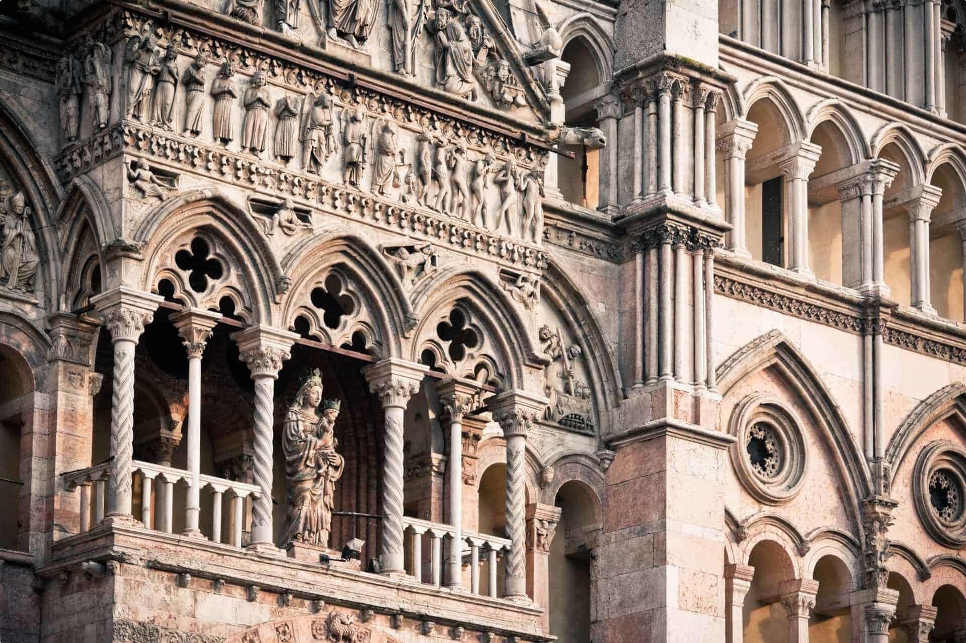Italian renaissance, Cathedral of Ferrara in Italy