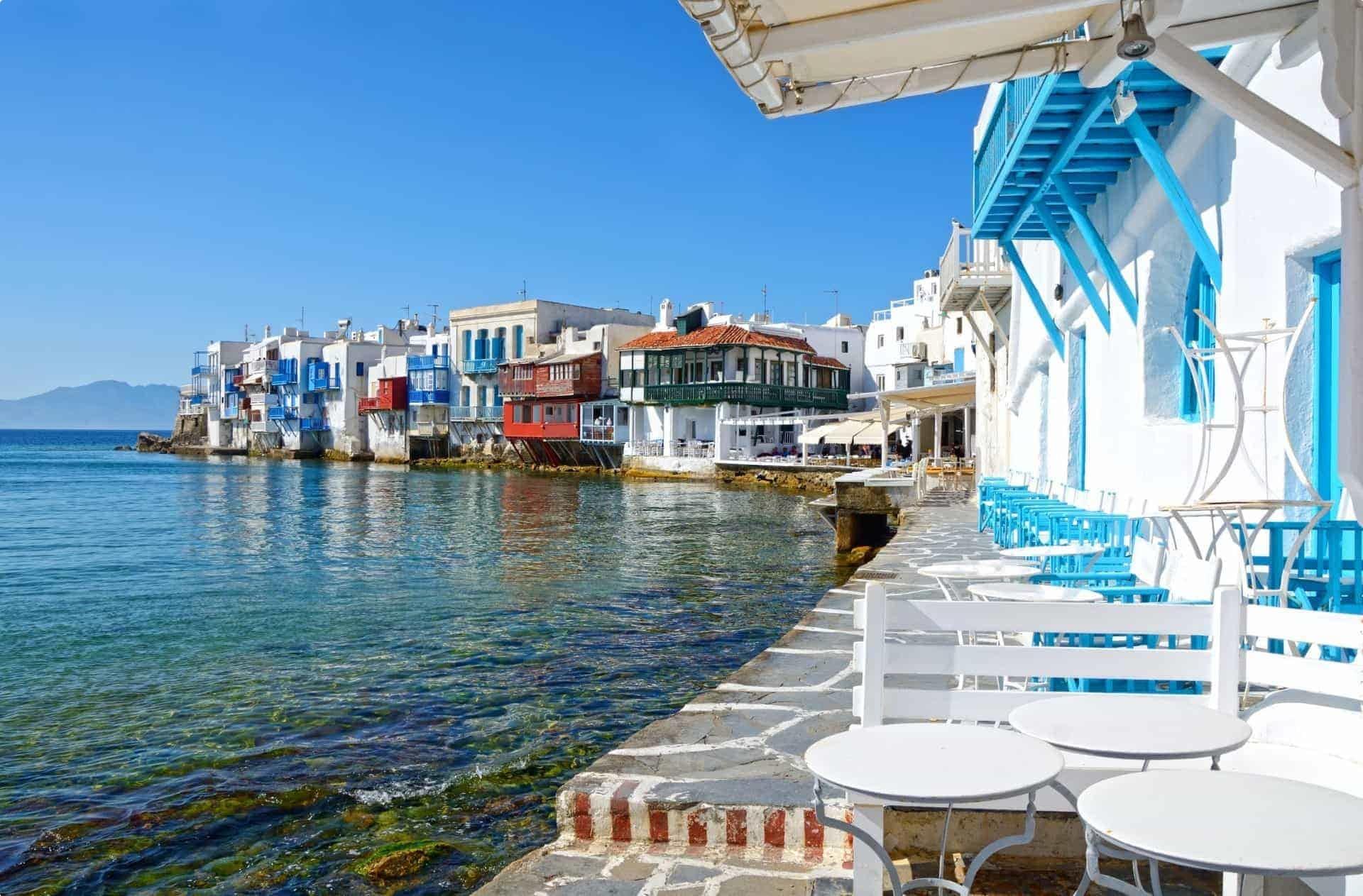 Mykonos shore, Greece