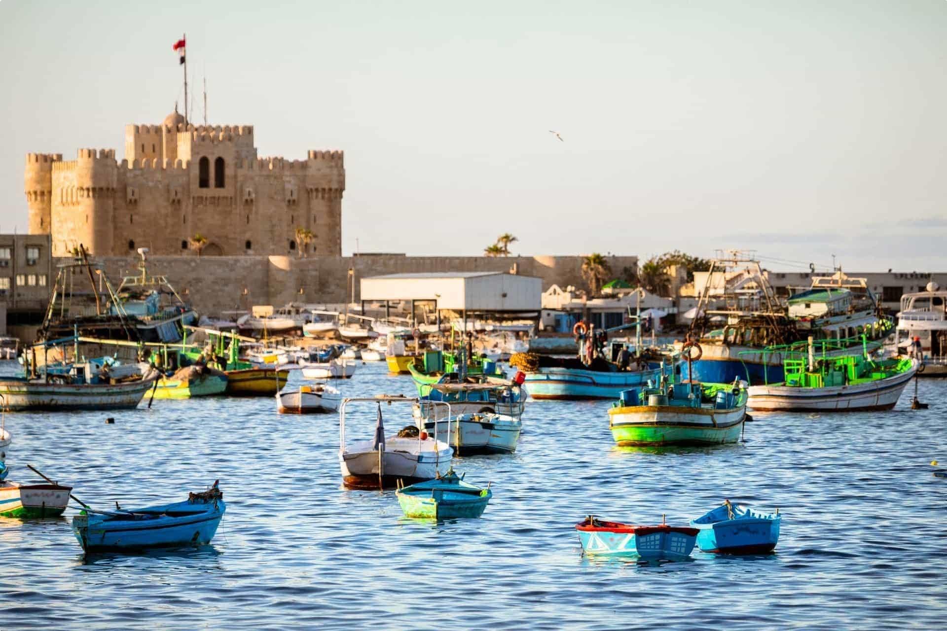 Boats in Alexandria, Egypt
