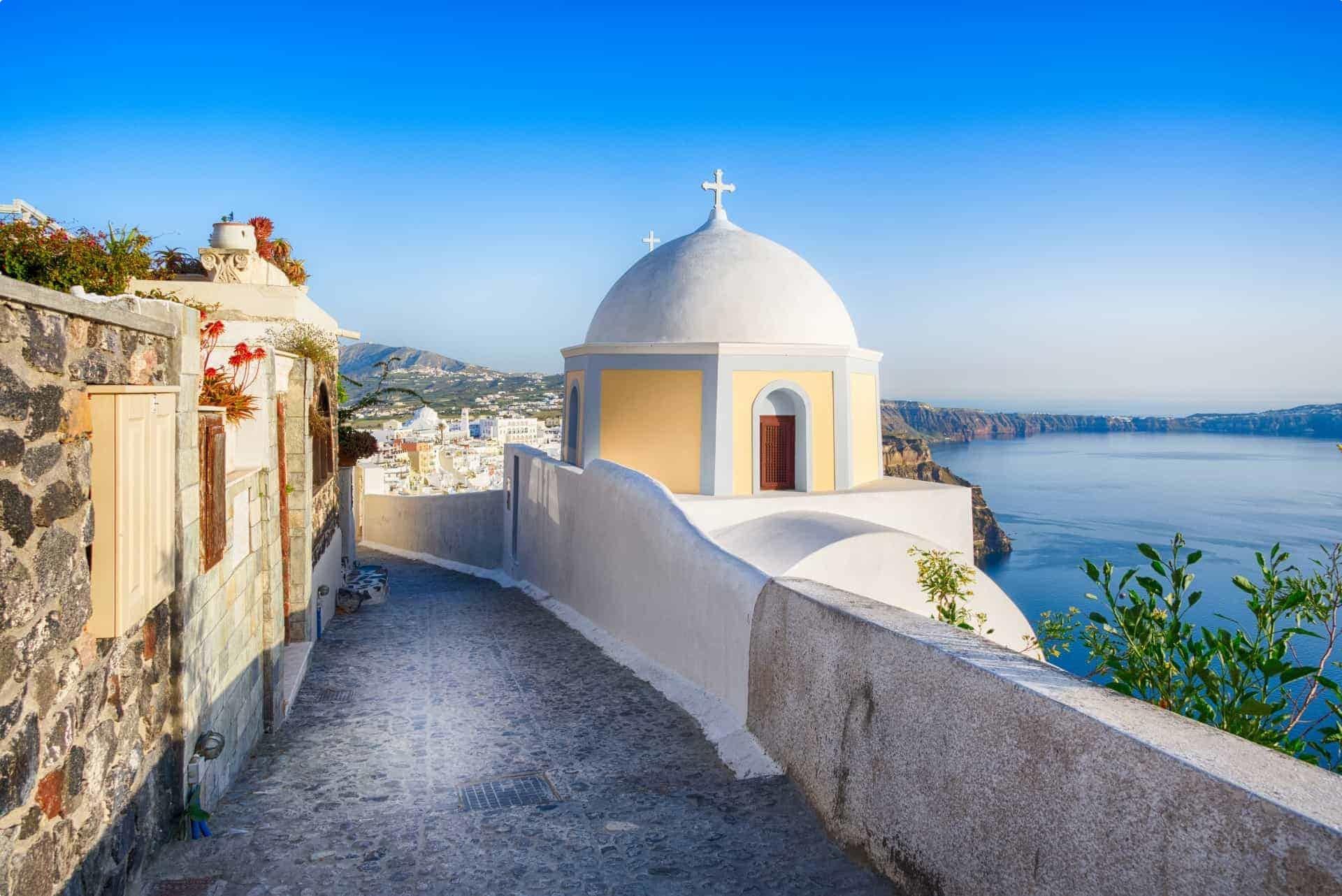 Santorini chapel, Greek Islands