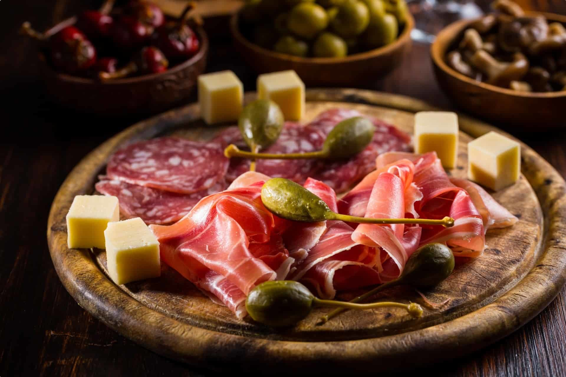 Jamon or cured ham