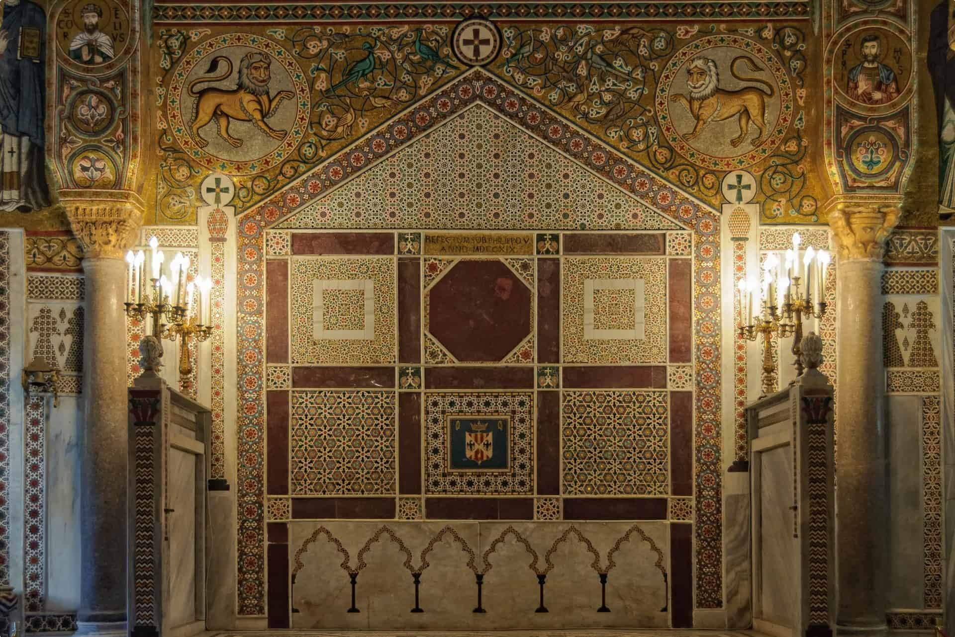 Mosaic within the Cappalla Palatina, Sicily