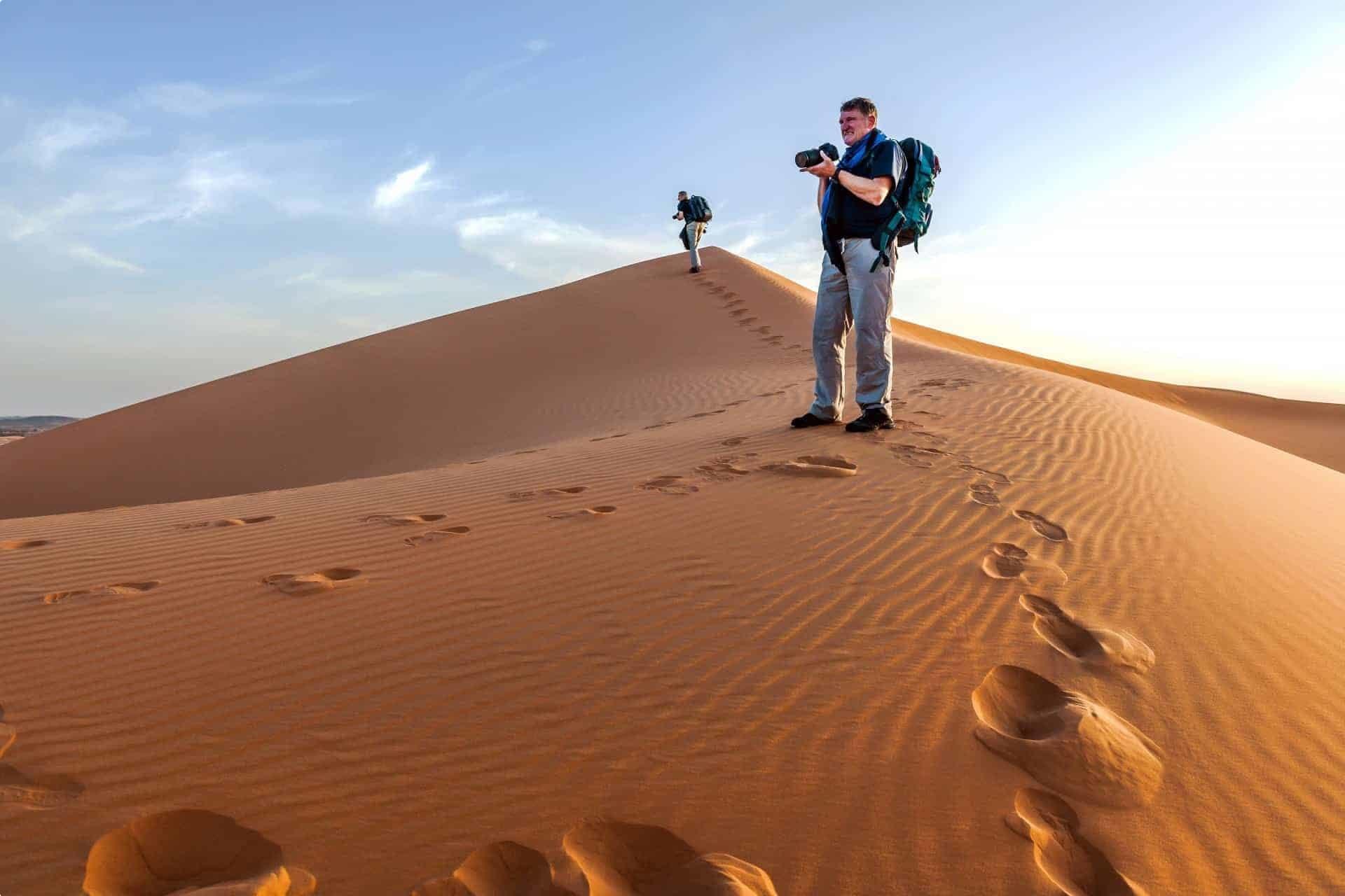 morocco sand dune seniors desert
