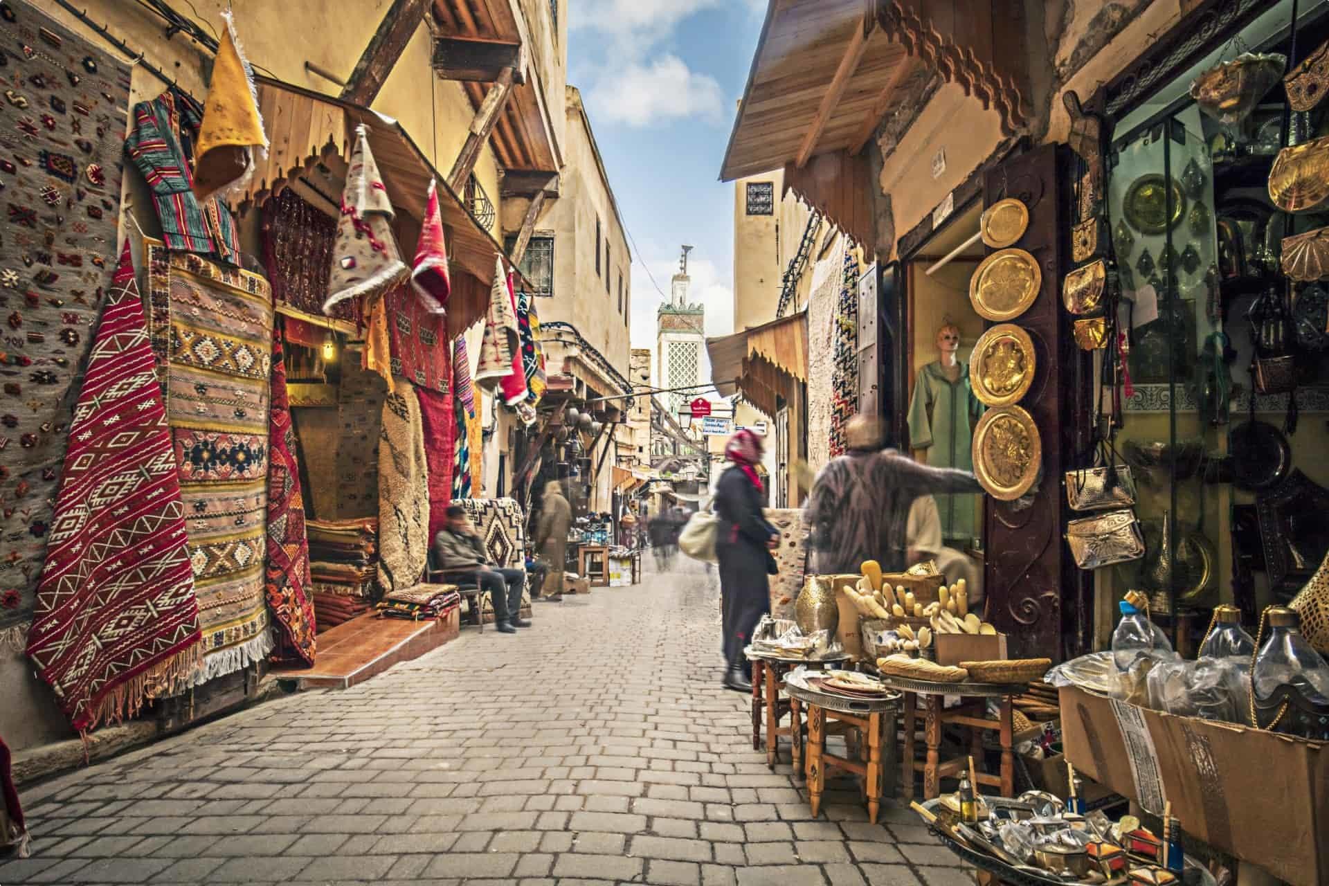 fez, morocco, shops