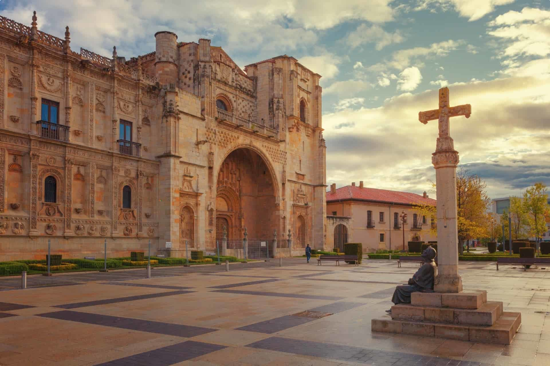 San Marcos, old hospital for pilgrims of the Way of St. James, Leon, Spain