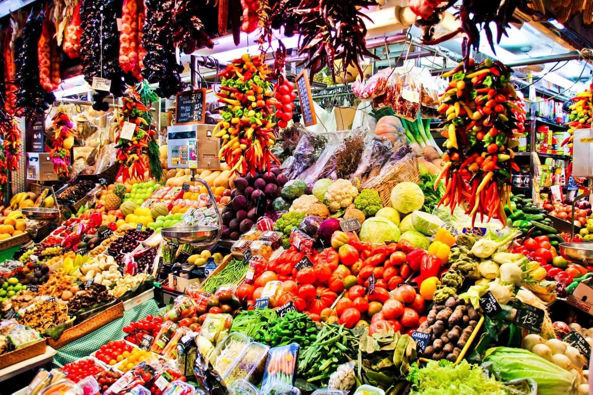 Barcelona Spain market la boqueria
