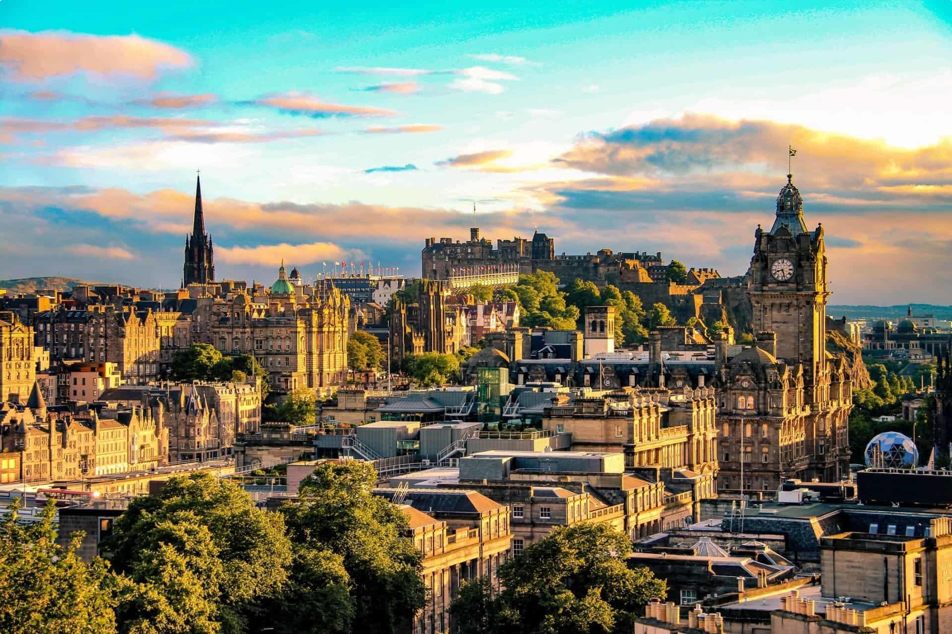 City of Edinburgh at dusk
