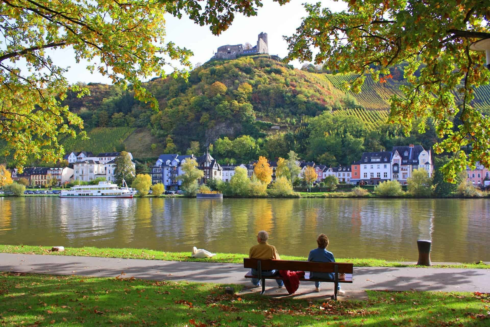 The Moselle River, which runs through Trier, Germany's oldest city.