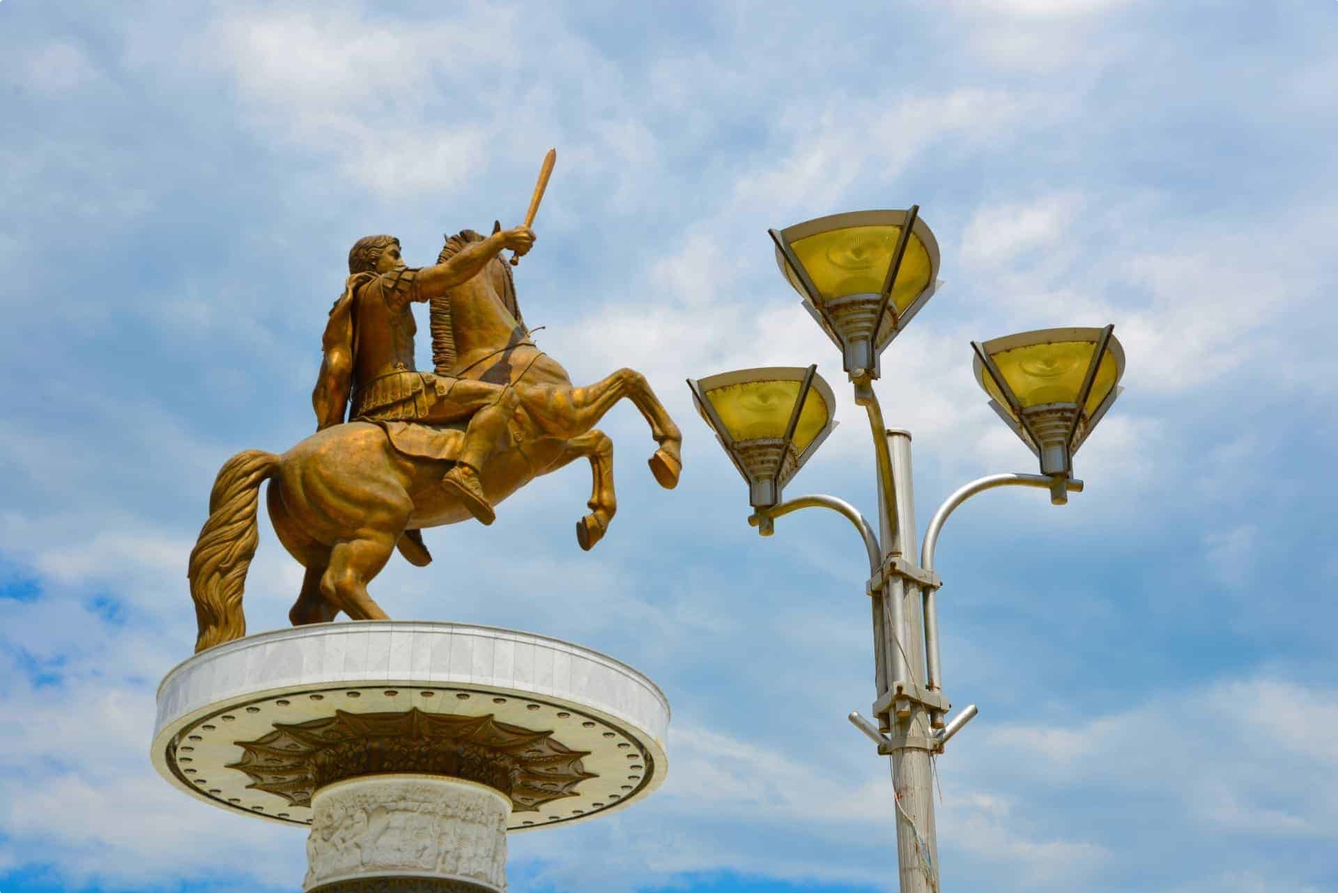 A statue depicting Alexander the Great
