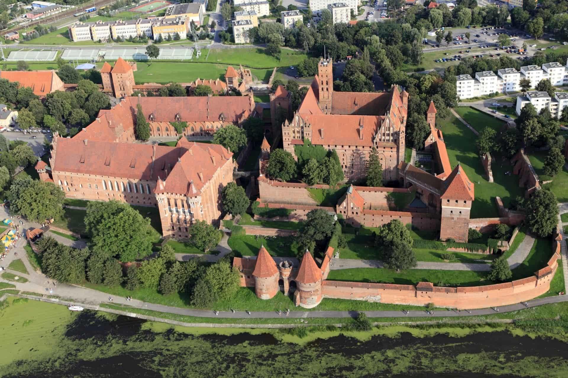 Teutonic castle in Malbork Poland
