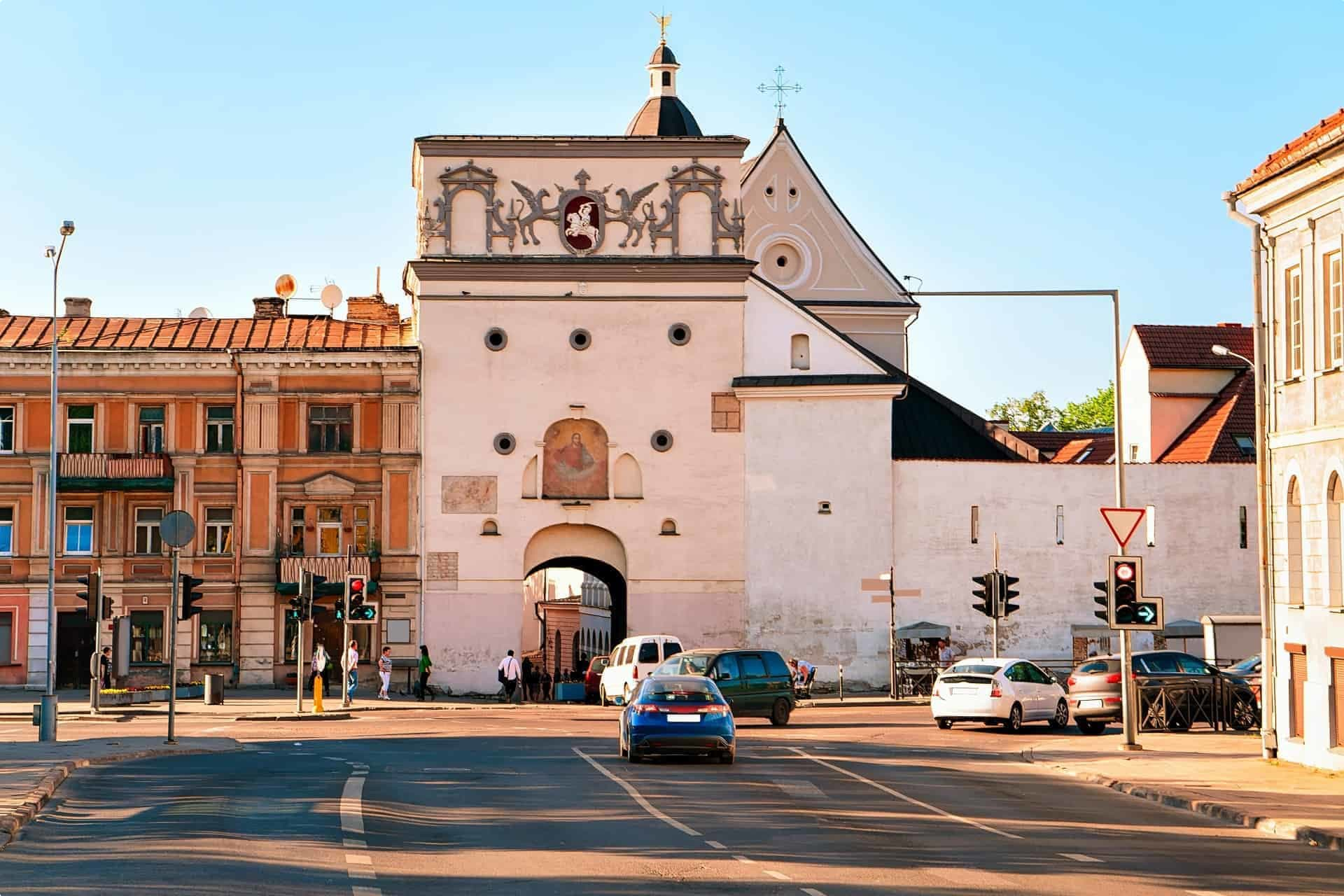 The Gate of Dawn into Vilnius Lithuania