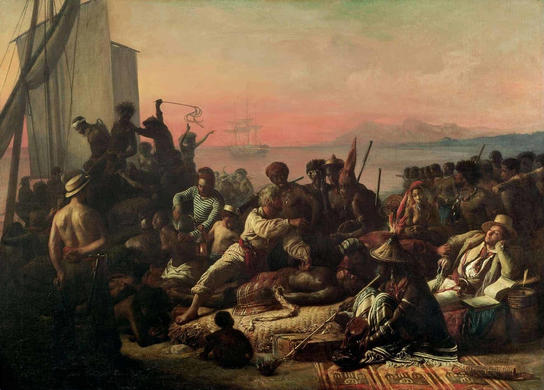 West Africa slavery oil painting