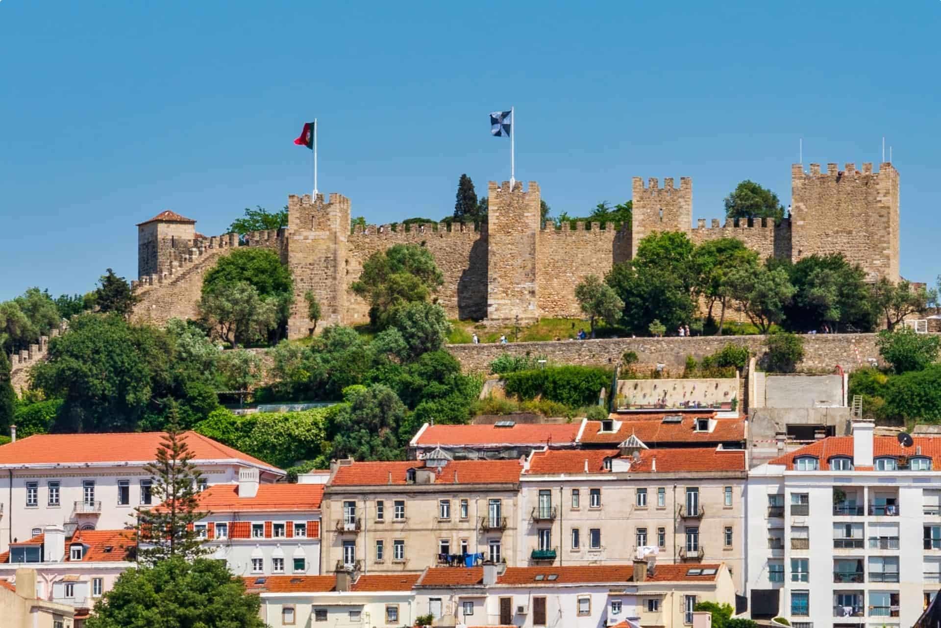 Sao Jorge Castle overlooking Lisbon