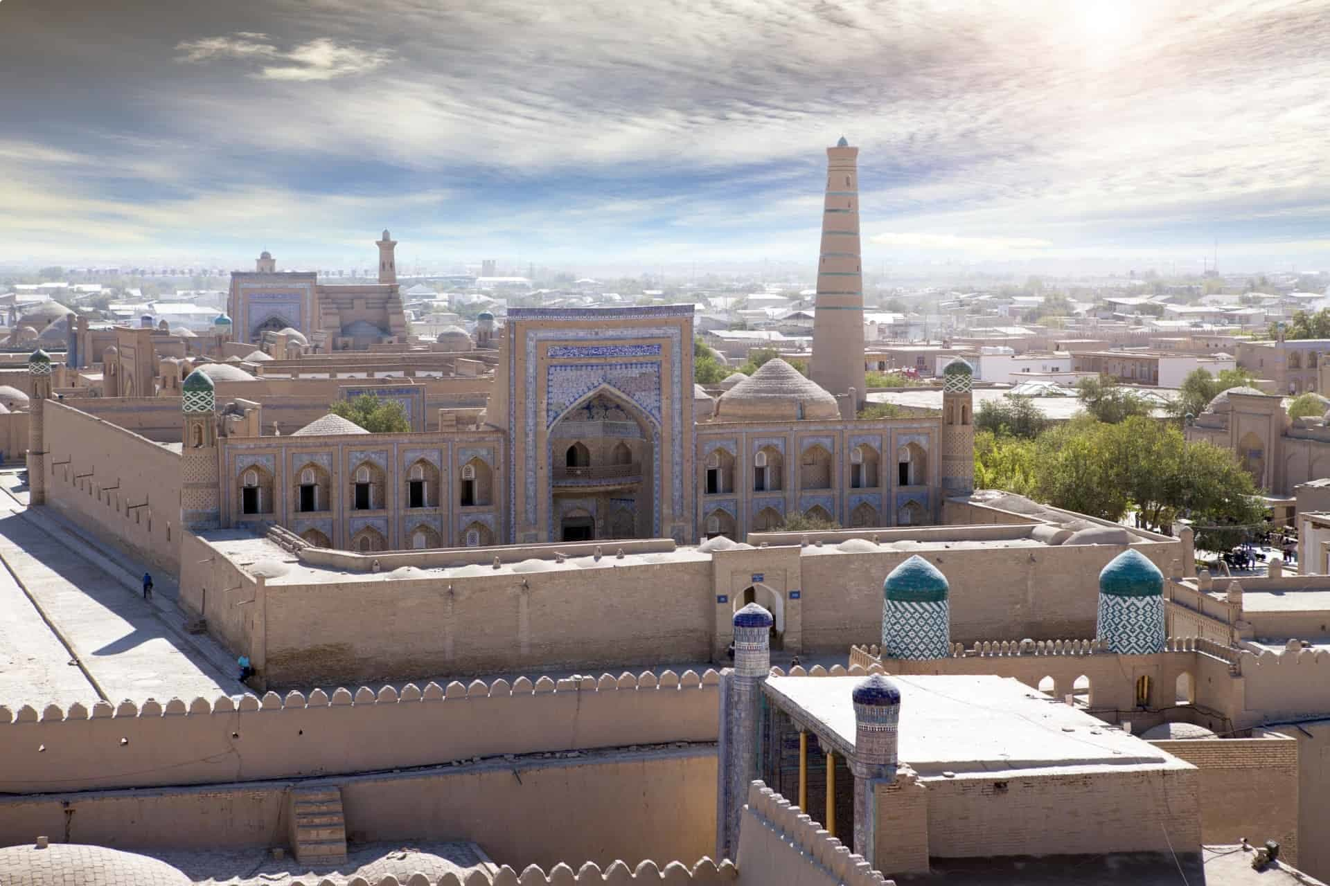 Aerial view of Khiva