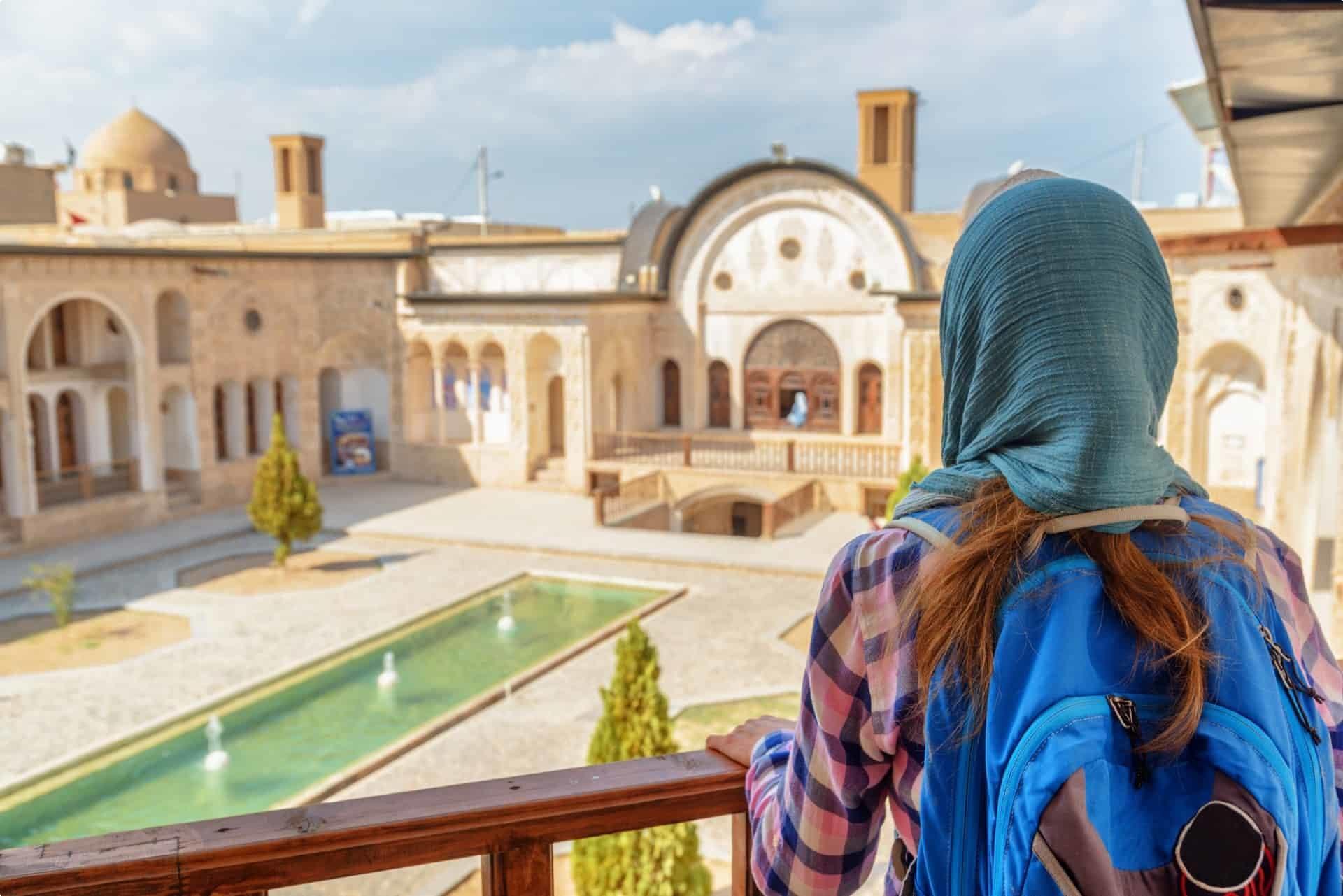 Female tourist Iran