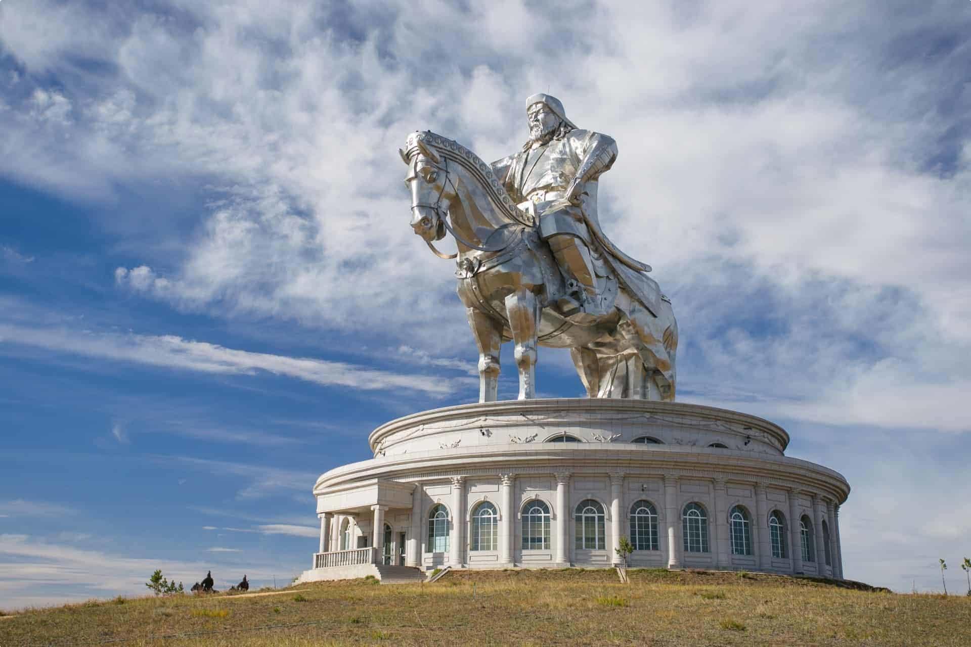 Statue of Genghis Khan in Ulaanbaatar