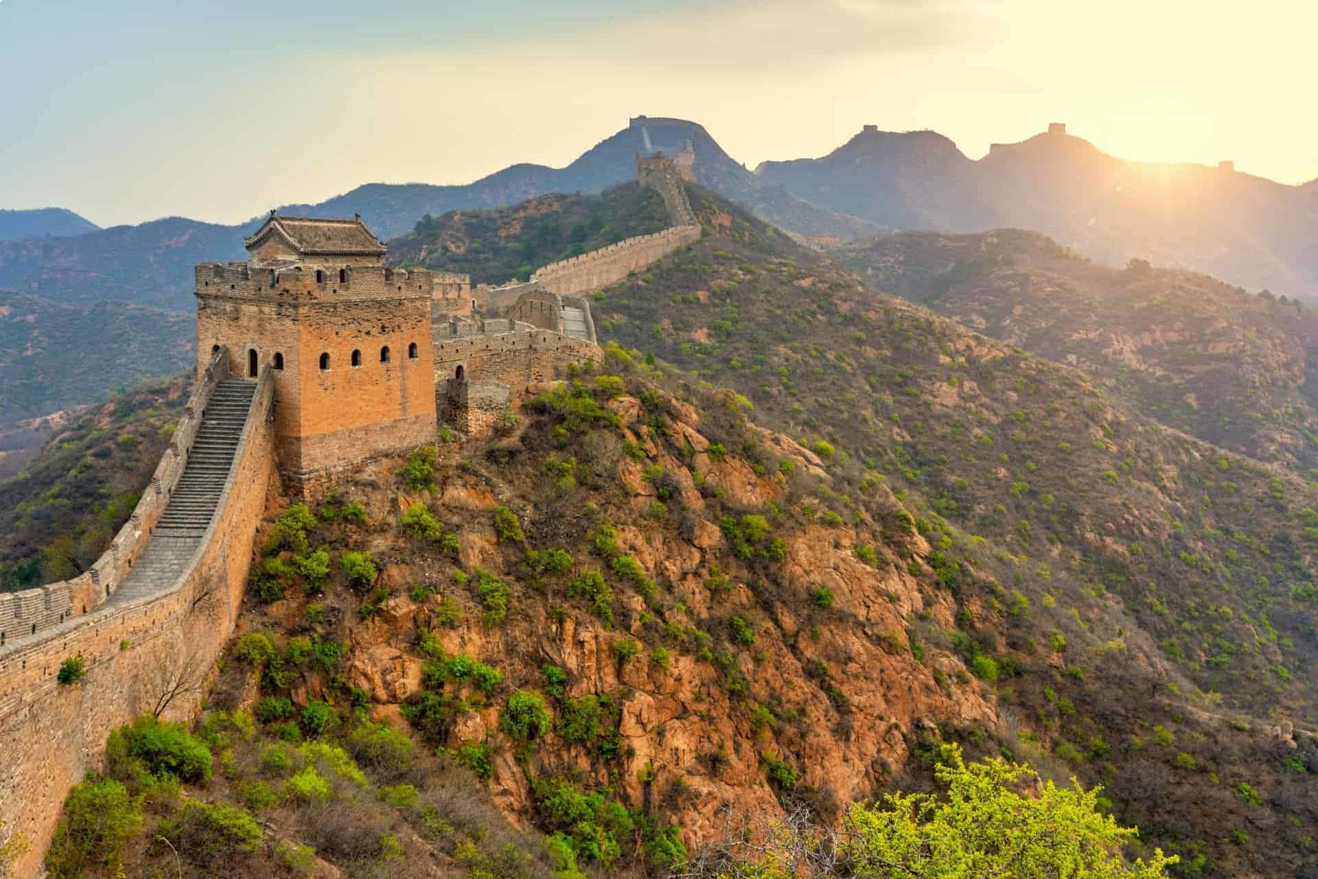 The Great Wall of China - built to repel Mongol invaders