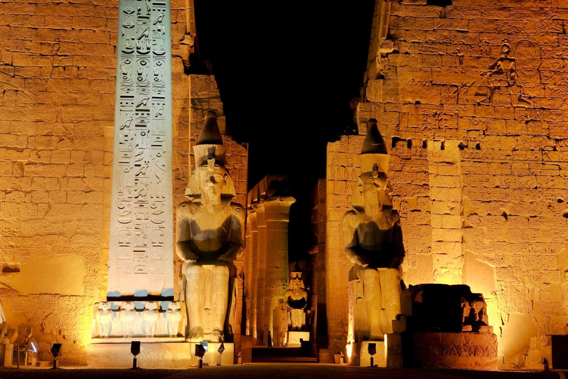 Entrance to the Temple of Luxor, Egypt