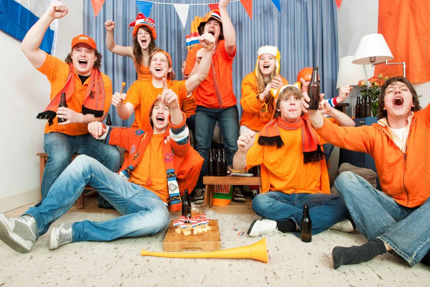The Dutch celebrating a goal Netherlands