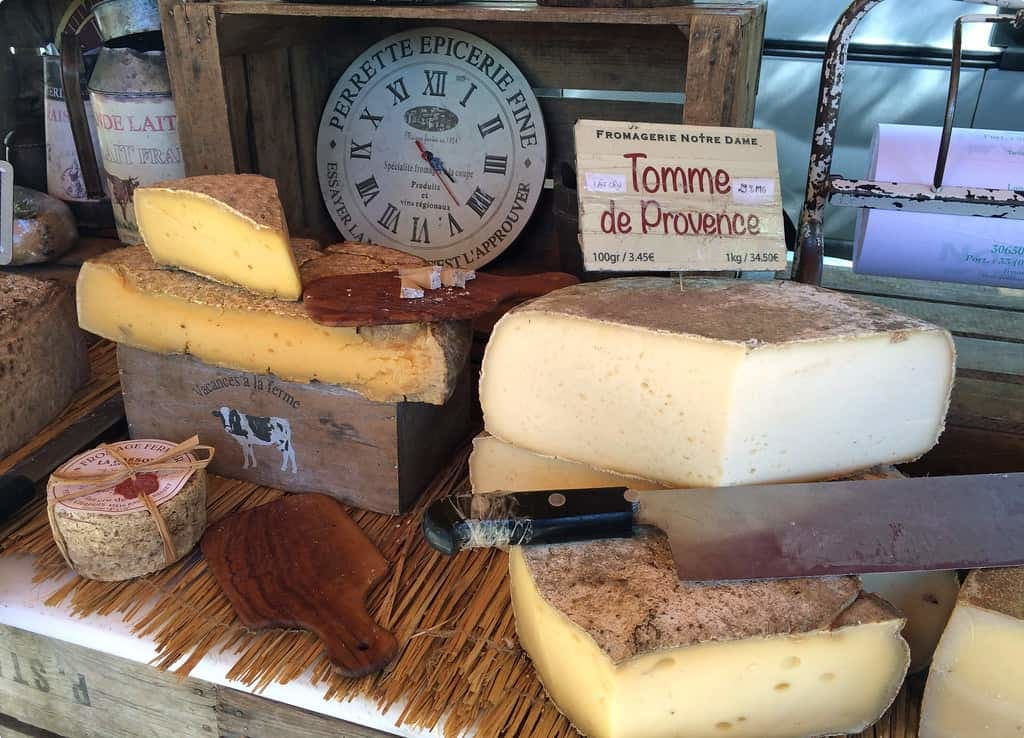 French cheeses in Arles