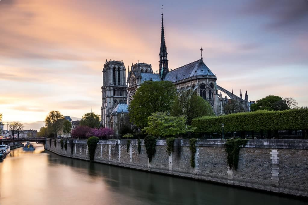 An image of the Notre Dame prior to the fire in April