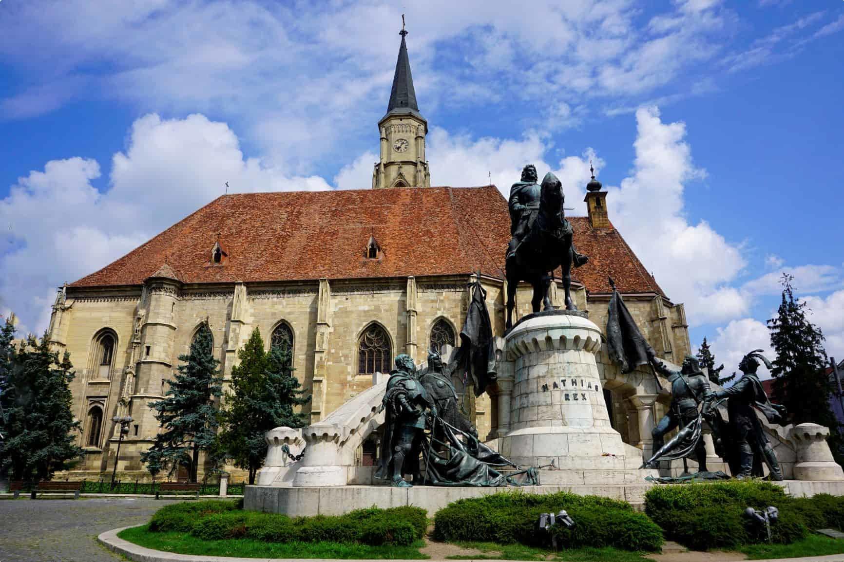 St Michael's Church in Cluj-Napoca in Romania