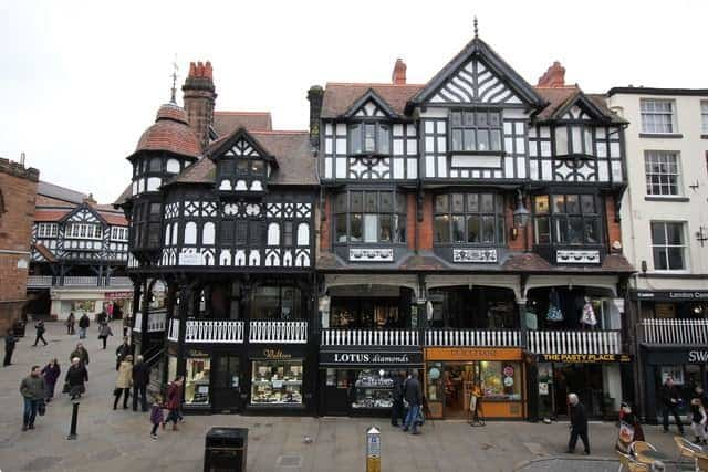 Chester Rows, at Bridge Street