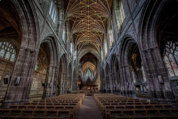 The inside of Chester Cathedral