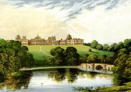 A painting of Blenheim Palace