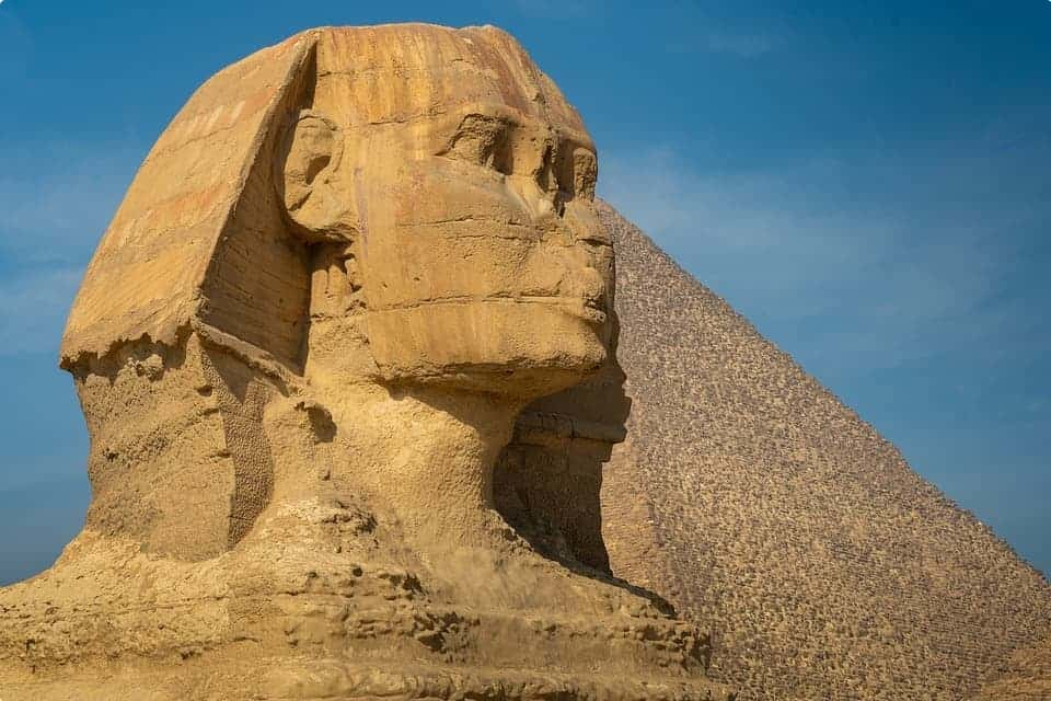 The Sphinx statue in Egypt