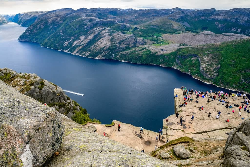 The view over Lysefjord in Norway
