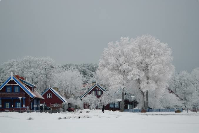 Winter on the coast in Nida, Lithuania