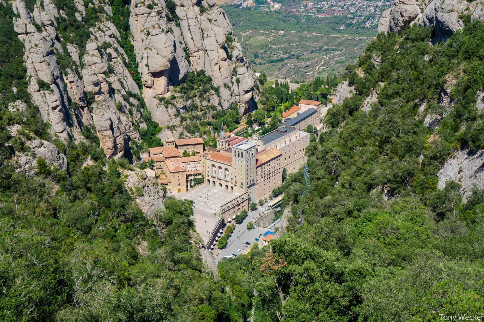 The view of Montserrat from Sant Join
