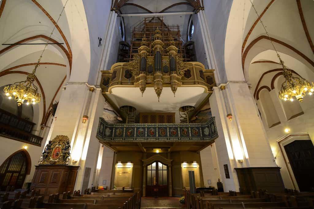 The famous organ at Riga Cathedral